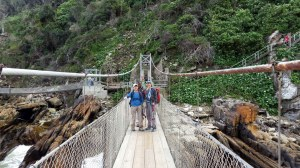 Suspension bridge accross the mouth of Storms River